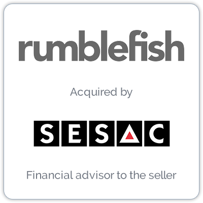 Rumblefish is a music licensing company aimed at bringing a creative, financial and legal perspective to any licensing project with music from a pre-cleared catalog of handpicked artists, or from a major label.