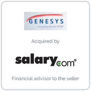 Genesys Software Systems is a Human Capital Management company providing HR solutions, benefits administration and payments, and payroll processing through software and a Web-based suite.