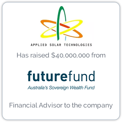 Applied Solar Technologies provides off-grid solar power to the telecom and banking sectors.