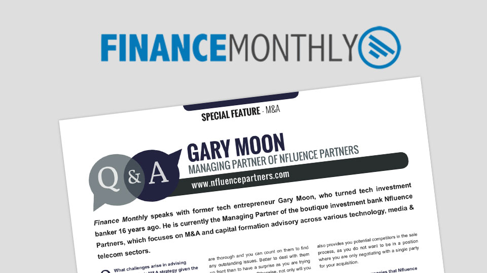 Finance Monthly: Special Feature M&A