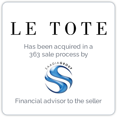 Le Tote is an online subscription-based women's clothing rental business