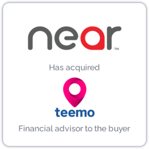 Near, the world's largest source of intelligence on people and places, acquired Paris-based location intelligence platform, Teemo.