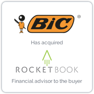 BIC, the world leader in stationery, with its acquisition of Rocketbook, the leading smart reusable notebook brand, brings together analog and digital writing